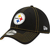 New Era Men's Pittsburgh Steelers Sideline Road 39Thirty Stretch Fit Hat