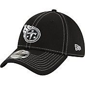 New Era Men's Tennessee Titans Sideline Road 39Thirty Stretch Fit Black Hat
