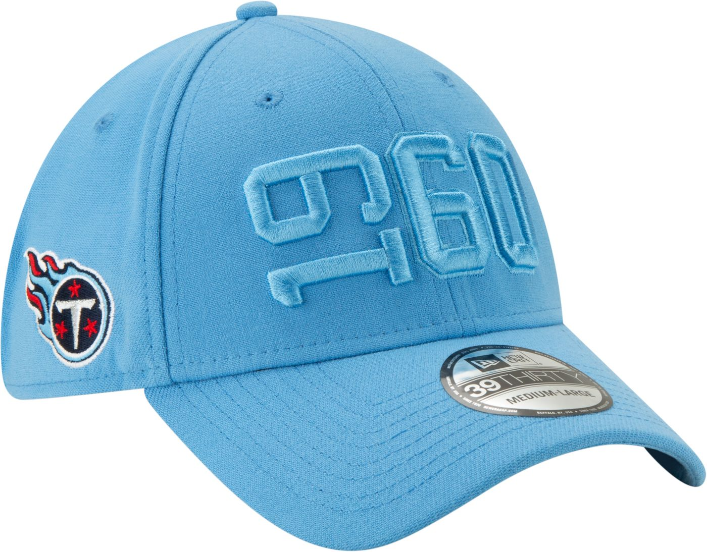 New Era Men's Tennessee Titans Sideline Color Rush 39Thirty Stretch Fit Hat