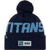 New Era Men's Tennessee Titans Sideline Road Sport Pom Knit