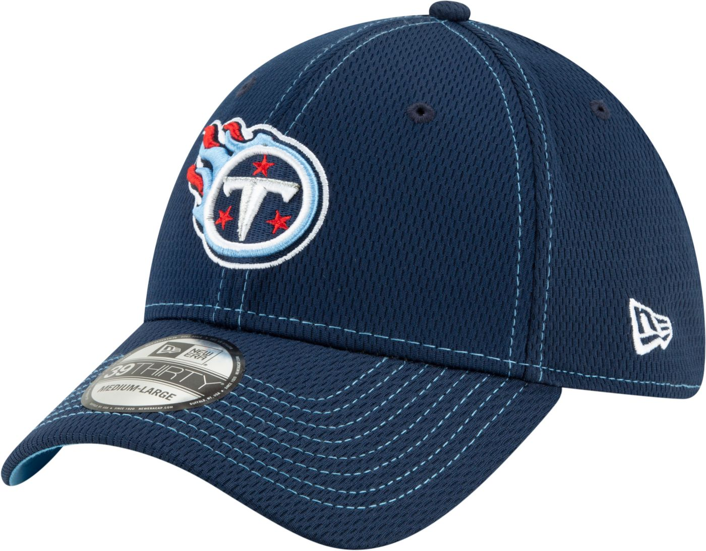 New Era Men's Tennessee Titans Sideline Road 39Thirty Stretch Fit Hat
