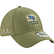 New Era Men's Salute to Service Tennessee Titans 39Thirty Olive Stretch Fit Hat