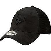 New Era Men's Houston Texans Neo Camo Front 39Thirty Black Stretch Fit Hat