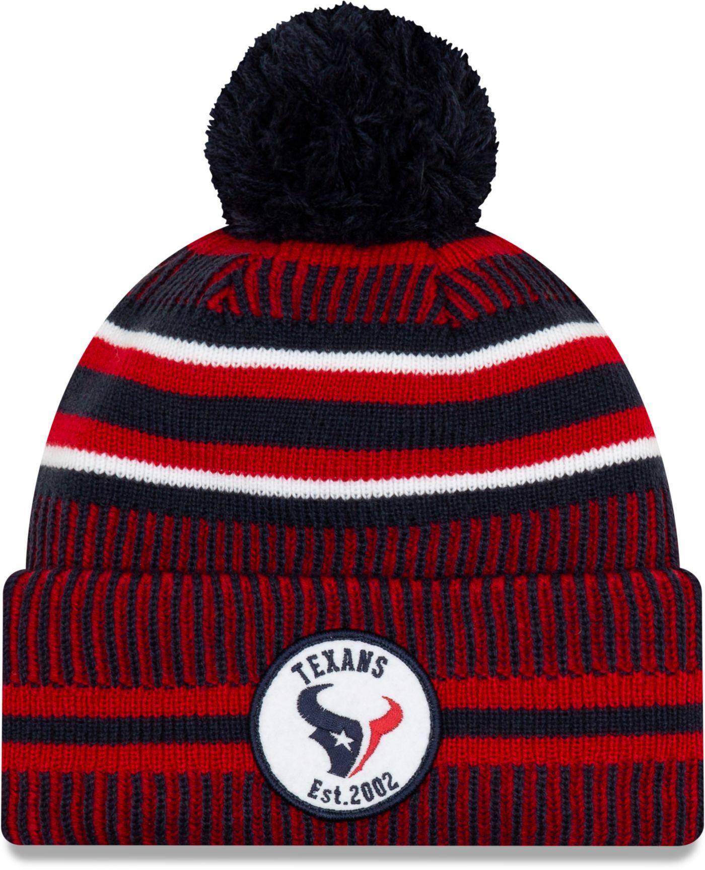 New Era Men's Houston Texans Sideline Home Sport Pom Knit