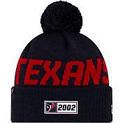 New Era Men's Houston Texans Sideline Road Sport Pom Knit