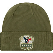 New Era Men's Salute to Service Houston Texans Olive Cuffed Knit