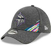 New Era Men's Minnesota Vikings Sideline Crucial Catch 39Thirty Graphite Stretch Fit Hat