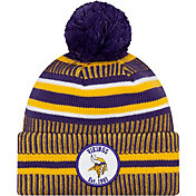 New Era Men's Minnesota Vikings Sideline Home Sport Pom Knit