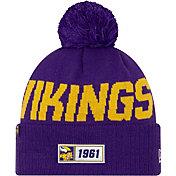 New Era Men's Minnesota Vikings Sideline Road Sport Pom Knit