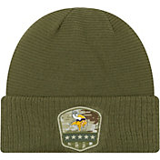 New Era Men's Salute to Service Minnesota Vikings Olive Cuffed Knit