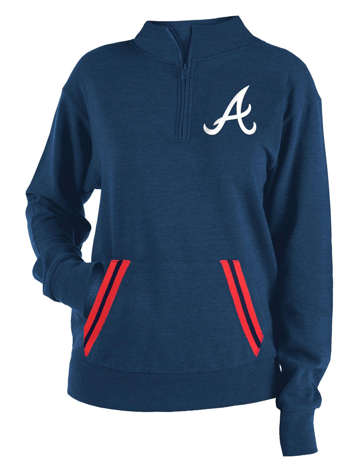 New Era Women's Atlanta Braves Hooded Quarter-Zip