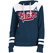 New Era Women's Atlanta Braves Tri-Blend Pullover Hoodie