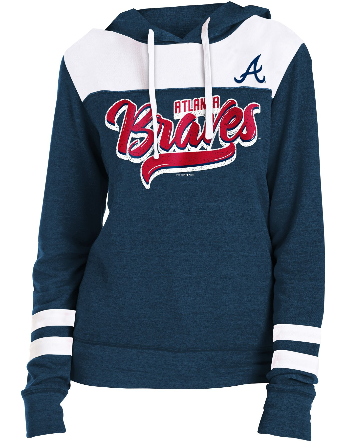 New Era Women's Atlanta Braves Tri-Blend Pullover Hoodie