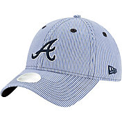 New Era Women's Atlanta Braves Navy Preppy 9Twenty Adjustable Hat