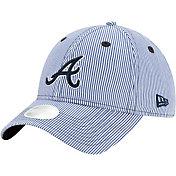 New Era Women's Atlanta Braves Navy Preppy 9Twenty Adjustable Hat
