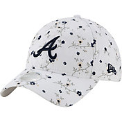 New Era Women's Atlanta Braves White Blossom 9Twenty Adjustable Hat