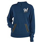 New Era Women's Milwaukee Brewers Hooded Quarter-Zip