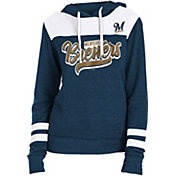 New Era Women's Milwaukee Brewers Tri-Blend Pullover Hoodie