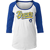 New Era Women's Milwaukee Brewers Three-Quarter Sleeve Shirt