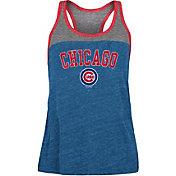 New Era Women's Chicago Cubs Blue Tri-Blend Tank Top