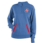 New Era Women's Chicago Cubs Hooded Quarter-Zip