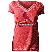 New Era Women's St. Louis Cardinals Tri-Blend V-Neck T-Shirt