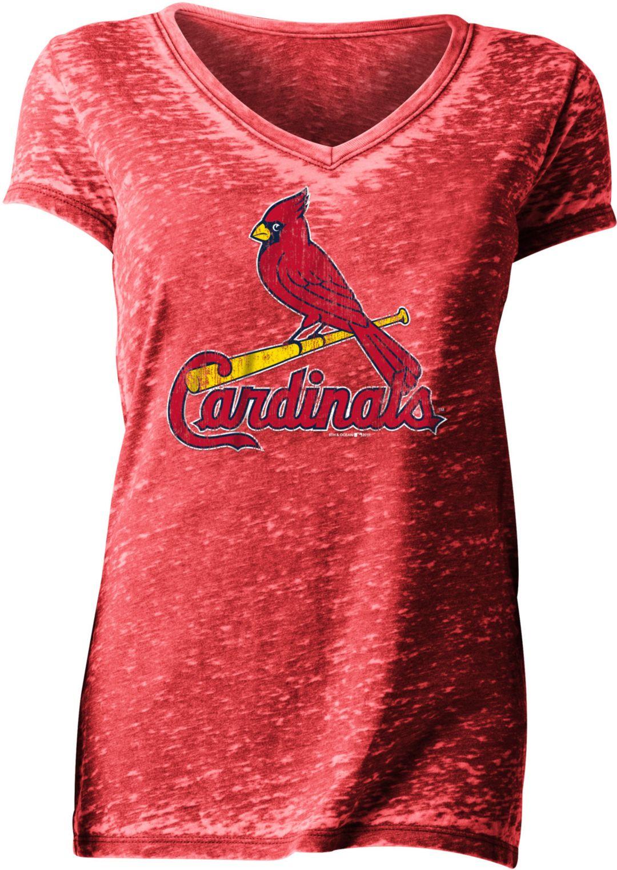 new style 43634 95068 New Era Women's St. Louis Cardinals Tri-Blend V-Neck T-Shirt