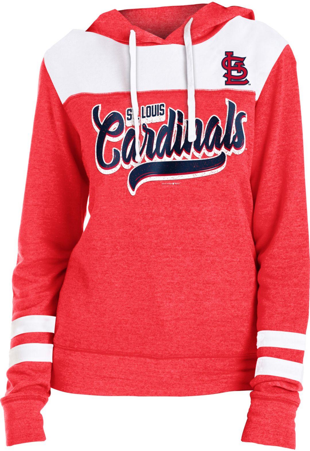 separation shoes 1cb0e dcc8f New Era Women's St. Louis Cardinals Tri-Blend Pullover Hoodie