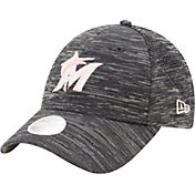New Era Women's Miami Marlins Gray 9Forty Tech League Adjustable Hat