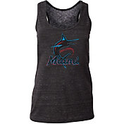 New Era Women's Miami Marlins Tri-Blend Tank Top