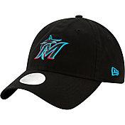 New Era Women's Miami Marlins 9Twenty Team Glisten Adjustable Hat