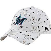 New Era Women's Miami Marlins White Blossom 9Twenty Adjustable Hat