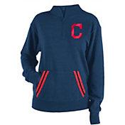 New Era Women's Cleveland Indians Hooded Quarter-Zip