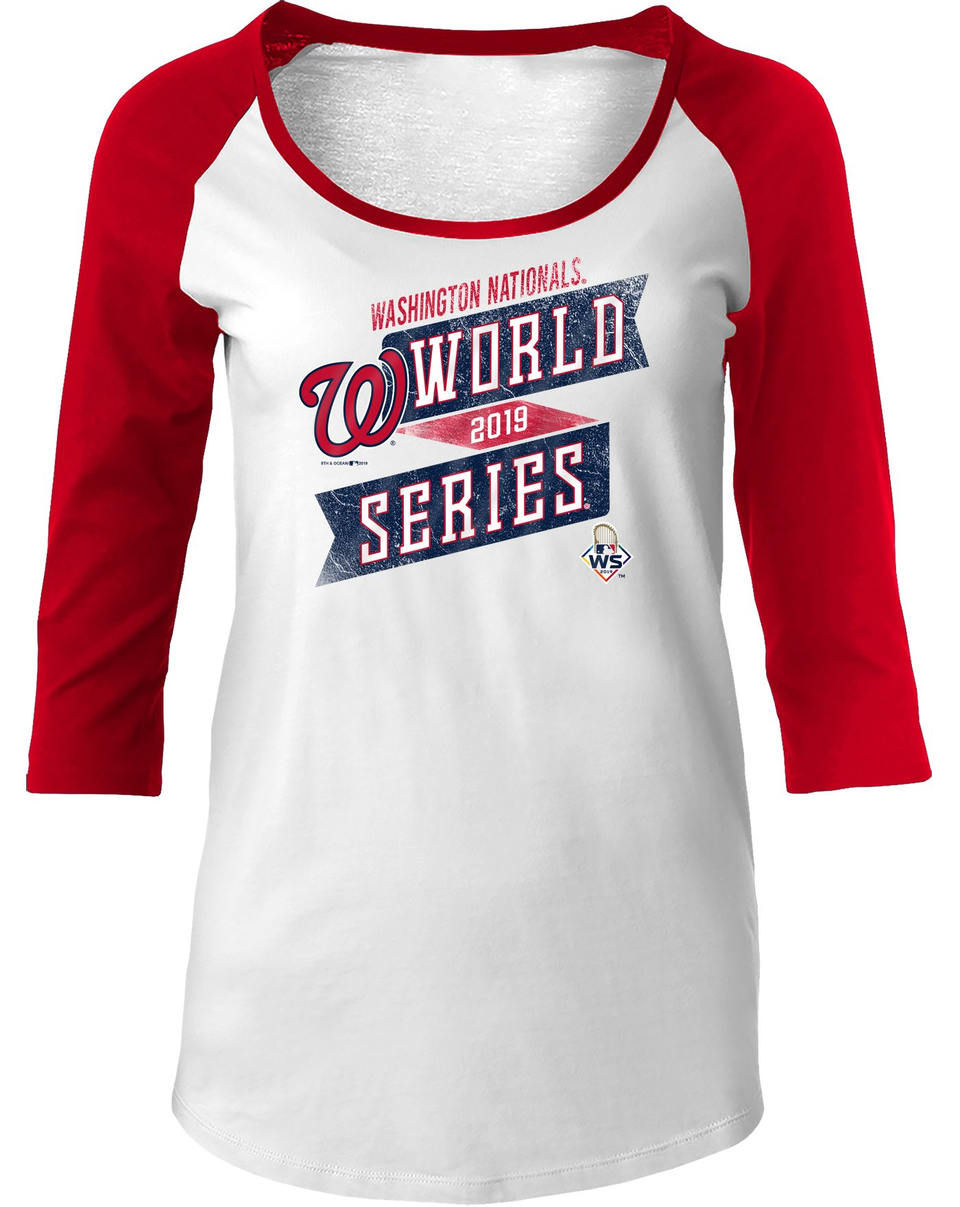 New Era Women's 2019 World Series Washington Nationals Three-Quarter Sleeve Shirt