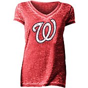 New Era Women's Washington Nationals Tri-Blend V-Neck T-Shirt