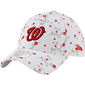 New Era Women's Washington Nationals White Blossom 9Twenty Adjustable Hat