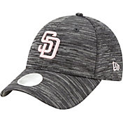 New Era Women's San Diego Padres Gray 9Forty Tech League Adjustable Hat