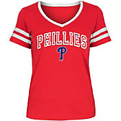 New Era Women's Philadelphia Phillies Tri-Blend V-Neck T-Shirt