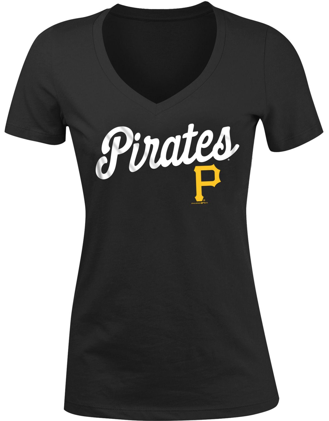 New Era Women's Pittsburgh Pirates Tri-Blend V-Neck T-Shirt