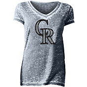 New Era Women's Colorado Rockies Tri-Blend V-Neck T-Shirt