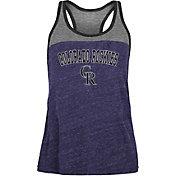 New Era Women's Colorado Rockies Purple Tri-Blend Tank Top