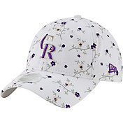 New Era Women's Colorado Rockies White Blossom 9Twenty Adjustable Hat