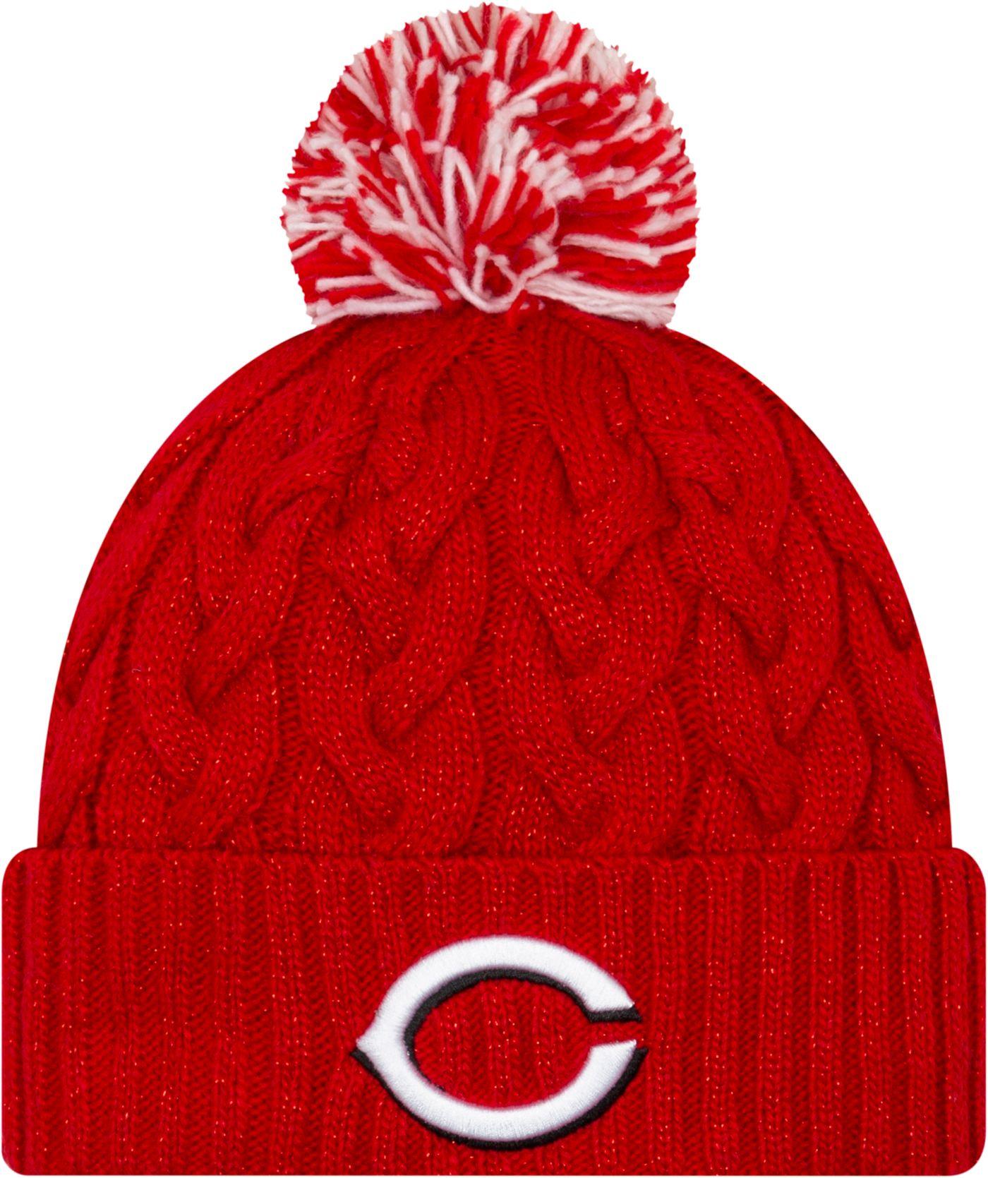 New Era Women's Cincinnati Reds Cozy Cable Knit Hat