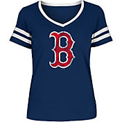 New Era Women's Boston Red Sox Tri-Blend V-Neck T-Shirt