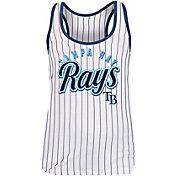 New Era Women's Tampa Bay Rays Pinstripe Tri-Blend Tank Top