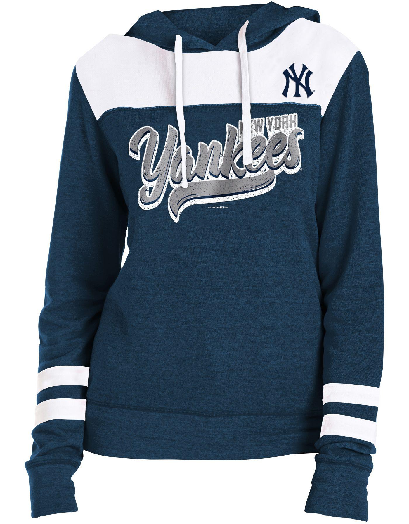 New Era Women's New York Yankees Tri-Blend Pullover Hoodie