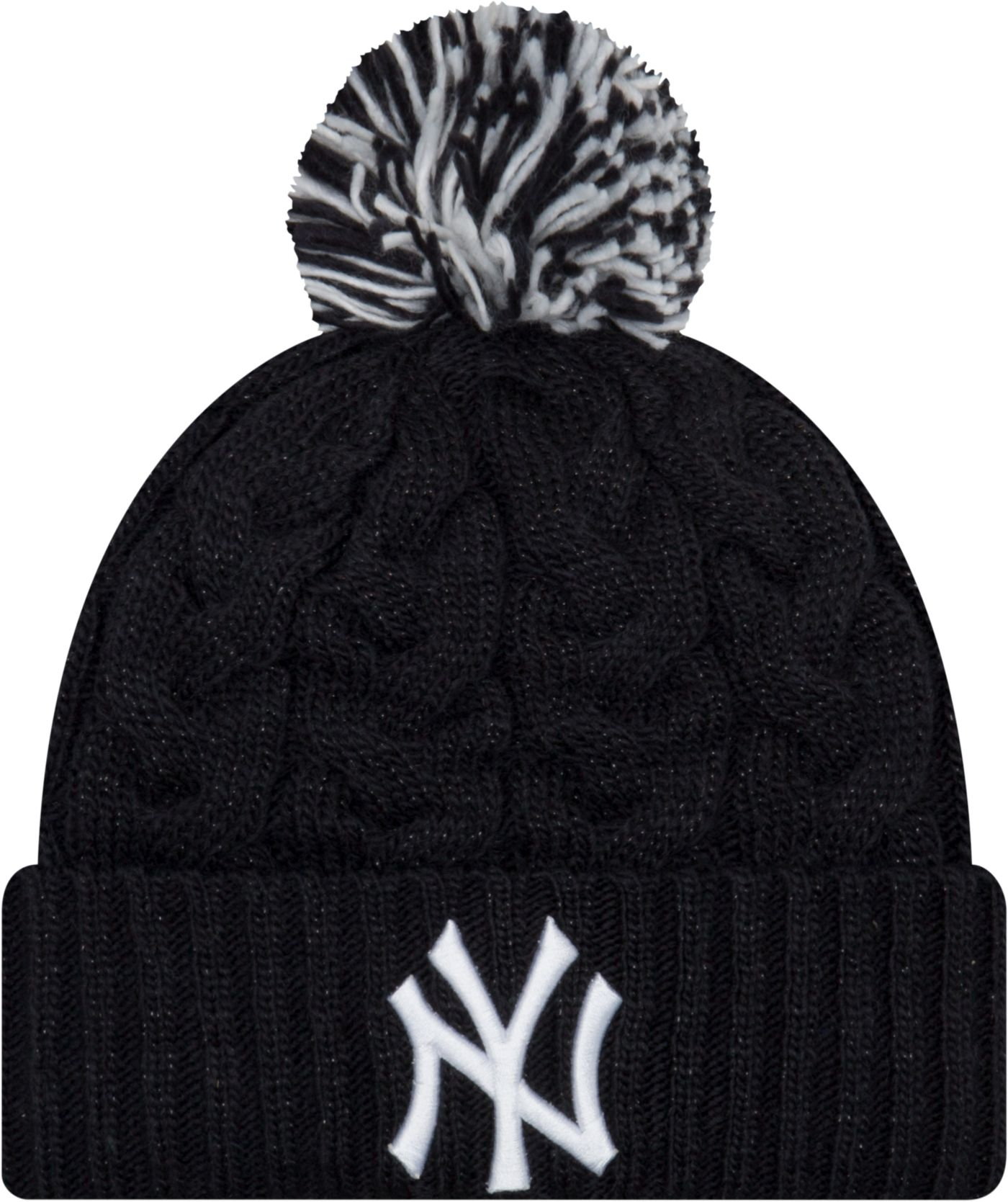 New Era Women's New York Yankees Cozy Cable Knit Hat
