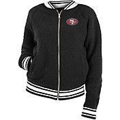 New Era Women's San Francisco 49ers Sherpa Black Full-Zip Jacket