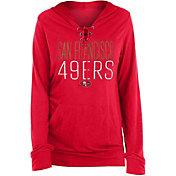 New Era Women's San Francisco 49ers Lace Hood Red Long-Sleeve Shirt