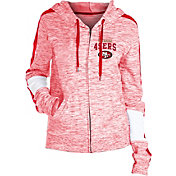 NFL Team Apparel Women's San Francisco 49ers Space Dye Full-Zip Hoodie